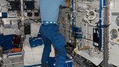 Paolo Nespoli in Columbus laboratory