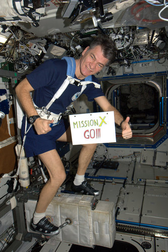 Paolo Nespoli 'tweeted' good luck to Mission X participants
