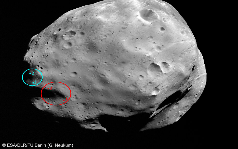 Planned landing site of the Russian Phobos-Grunt mission