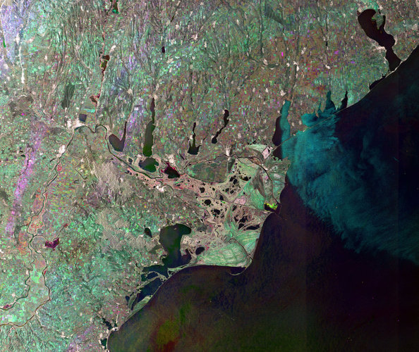 Radar image of the Danube Delta