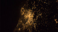 Rome by night as seen from ISS