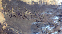 Tibesti Mountains as seen from ISS