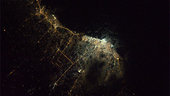 Tripoli by night as seen from ISS