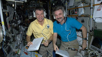 Alexander Kaleri and Paolo Nespoli on ISS