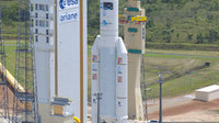 Ariane 5 ES launcher during transfer to ZL-3