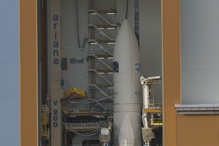 Ariane 5 ES launcher ready for transfer