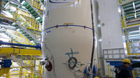 Assembly of full-scale Vega launcher mock-up