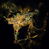 Athens as seen from ISS
