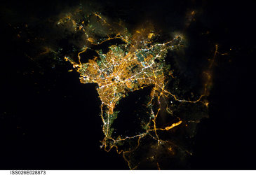Athens, seen by Paolo Nespoli from ISS