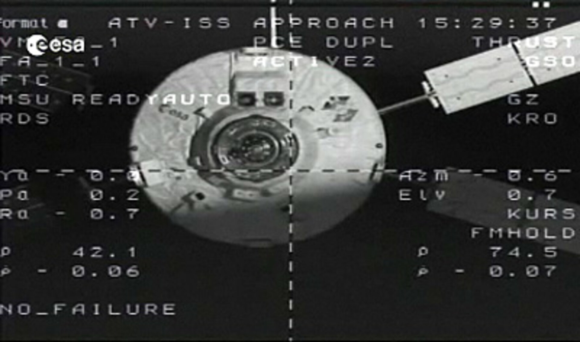 ATV-2 closing in