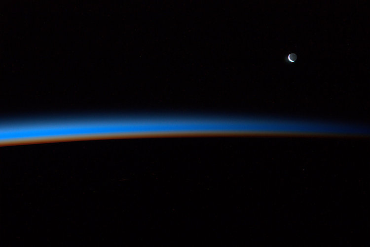 Crescent Moon, as seen from the ISS