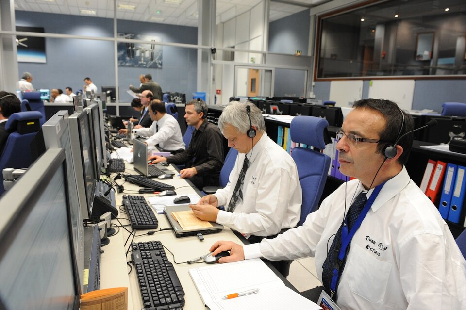 Team at work in the ATV Control Centre