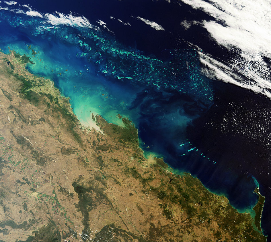 Sediments flowing into the reef