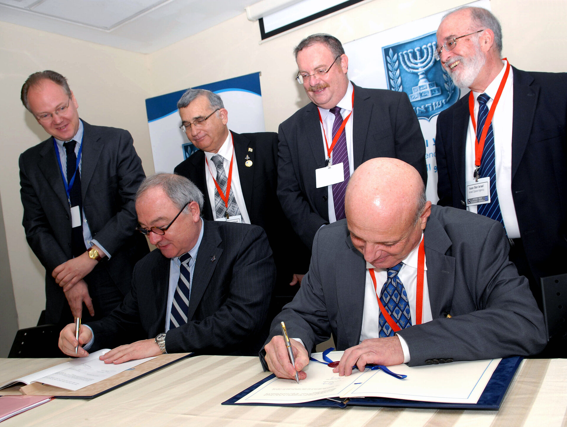 Signing the cooperation agreement in Tel Aviv