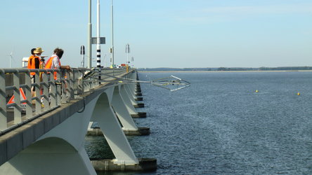 Testing off the Netherlands' longest bridge