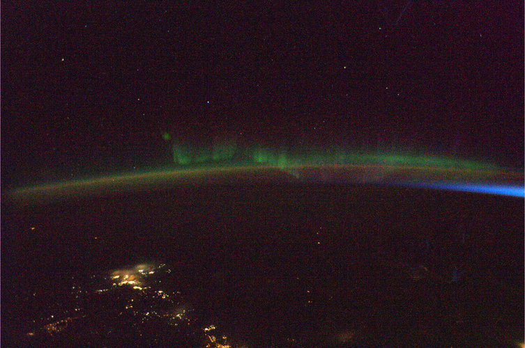 The Aurora Borealis, as seen from the ISS