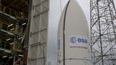 Vega's payload composite transfer to launch pad