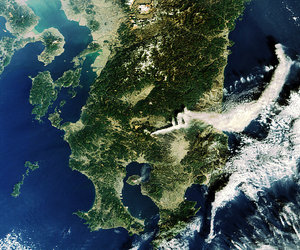Volcanic eruptions in Japan captured by Envisat