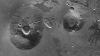 Ceraunius Tholus and Uranius Tholus in high resolution