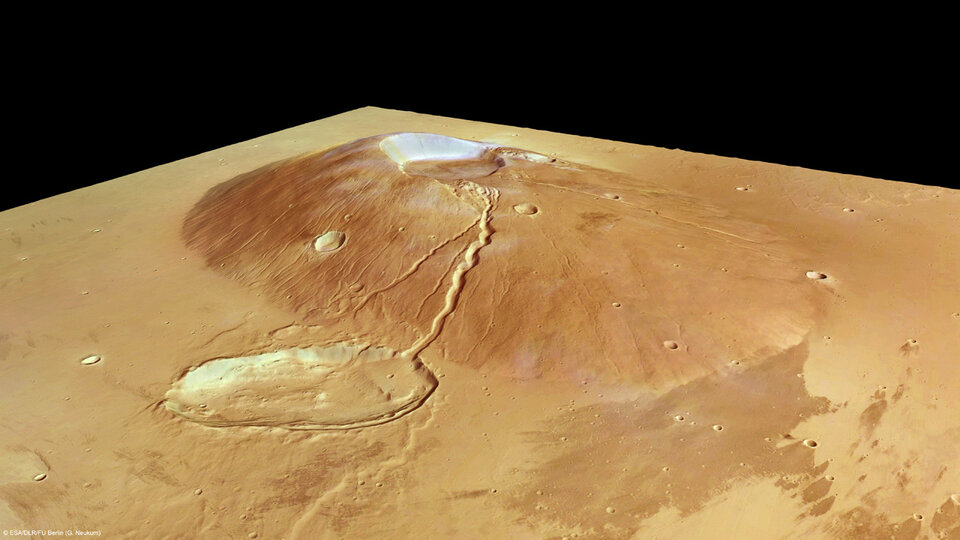 Ceraunius Tholus in perspective