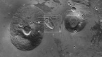 Features around Ceraunius Tholus and Uranius Tholus