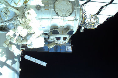 ISS and Cupola as photographed by Steve Bowen