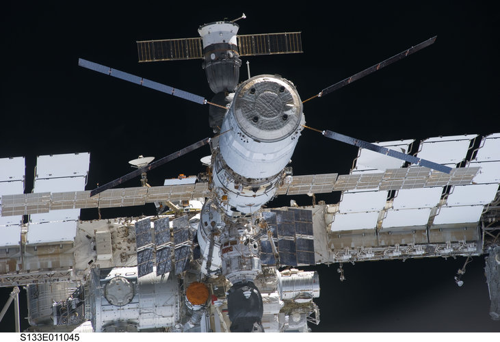 ISS as seen from Discovery