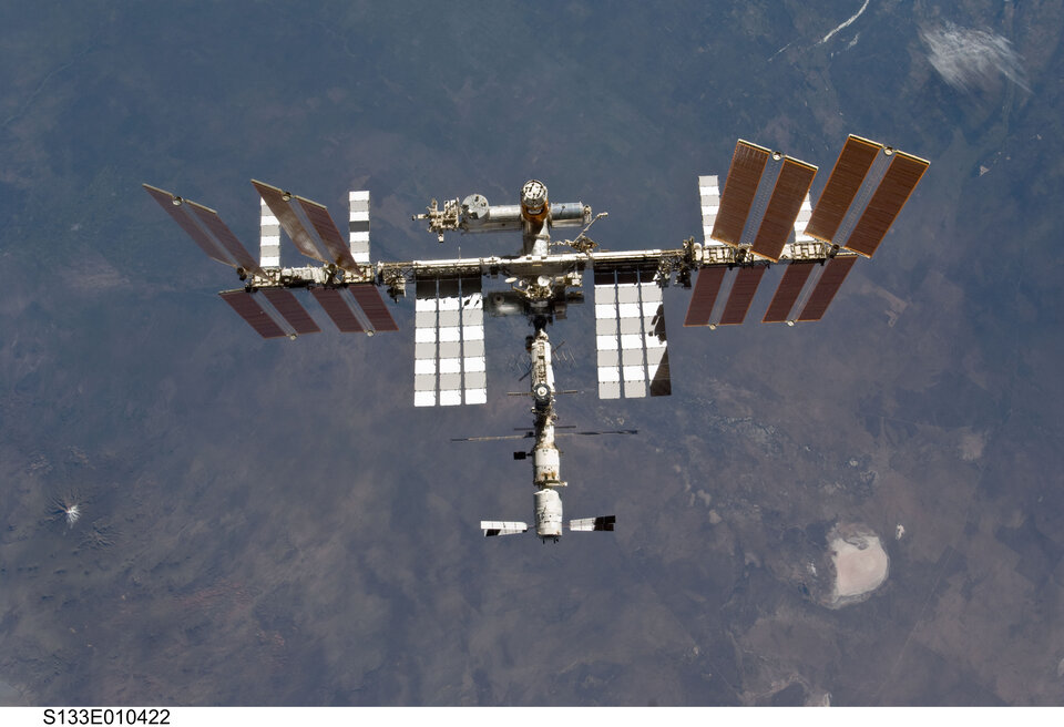ISS seen from Space Shuttle Discovery