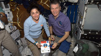 Paolo Nespoli and Nicole Stott