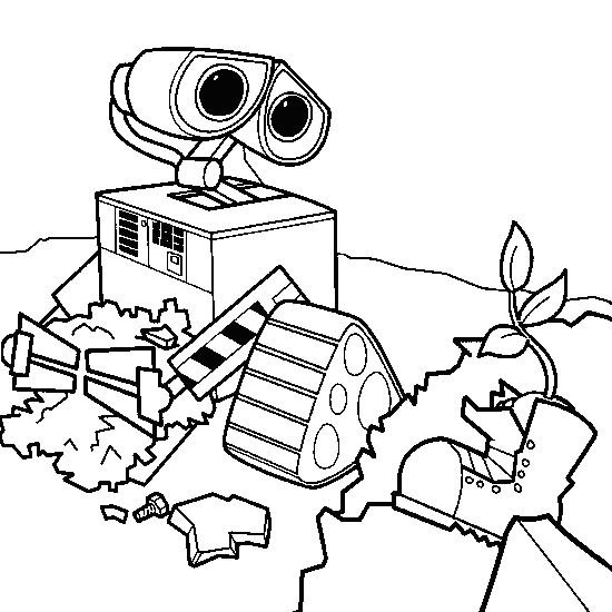 coloring book pages wall e - photo#29