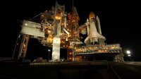 Shuttle Endeavour on launch pad