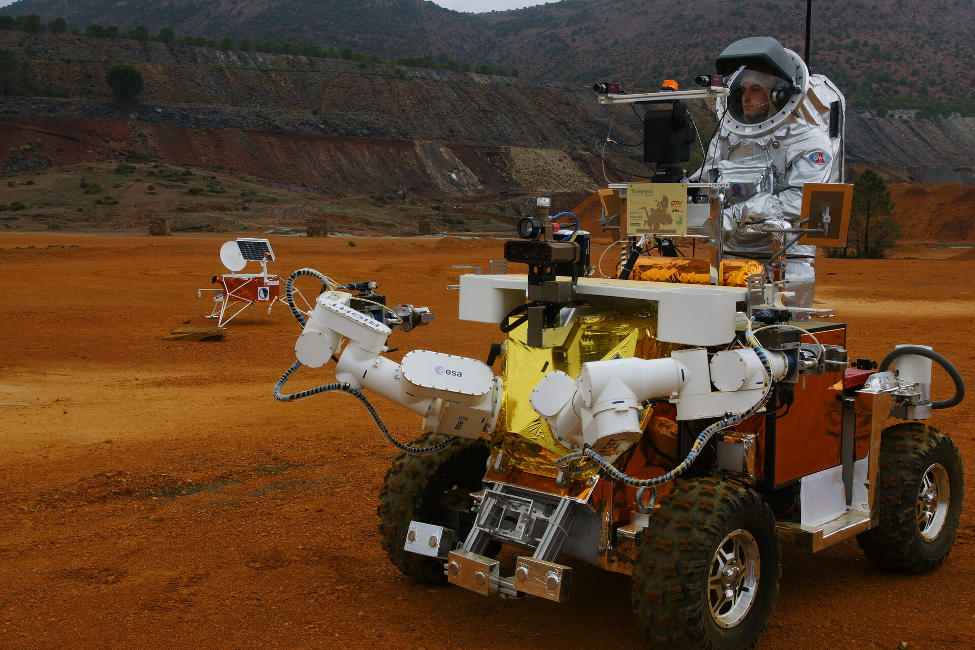 'Astronaut' at the controls of the Eurobot Ground Prototype