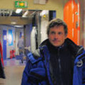 Eoin inside the Concordia station