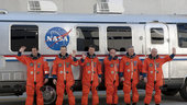 The STS-134 crew during simulated launch countdown exercise