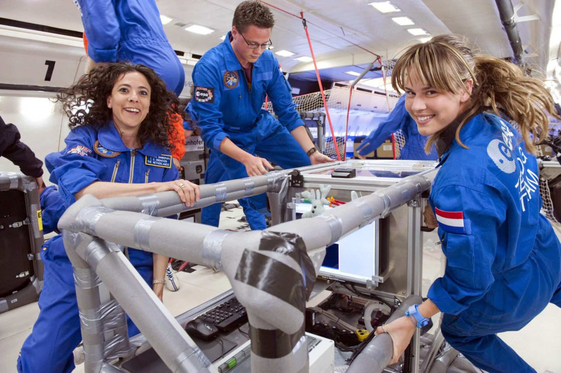 ARID team in microgravity