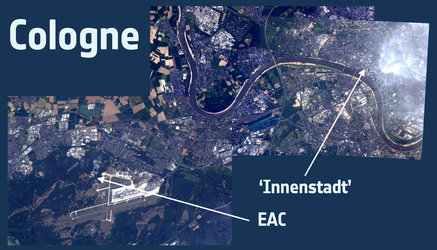 Cologne from ISS - combination of photos