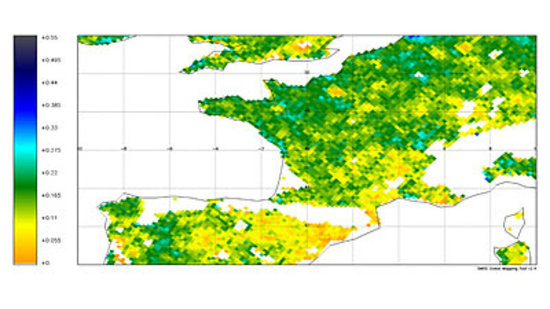 Comparison of soil moisture in 2010 and 2011
