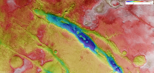 Elevation of Nili Fossae