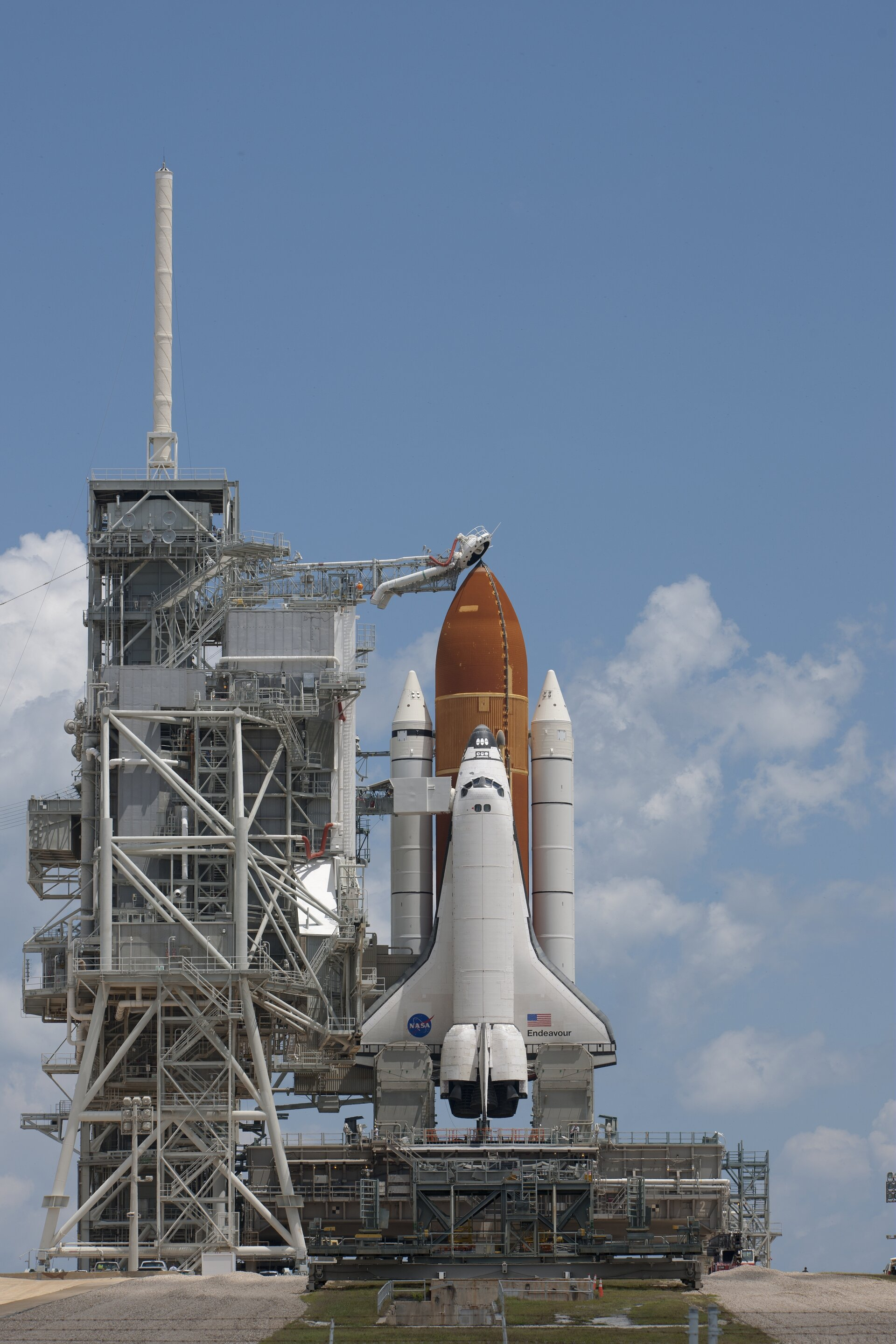 Endeavour on Launch Pad 39A