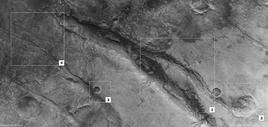 Features in Nili Fossae