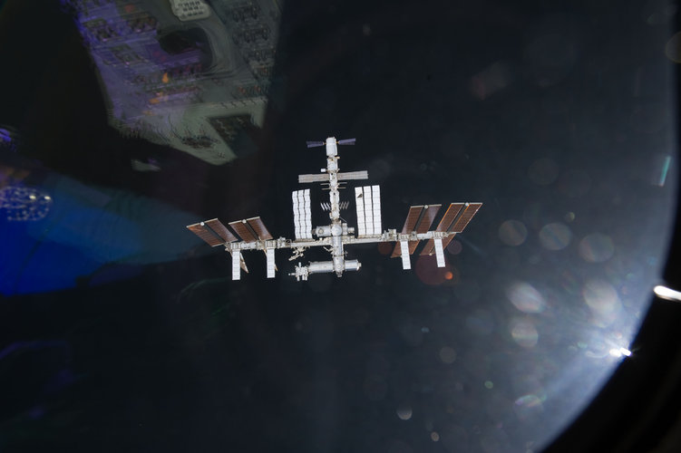 ISS – with ATV-02 attached – seen from Endeavour