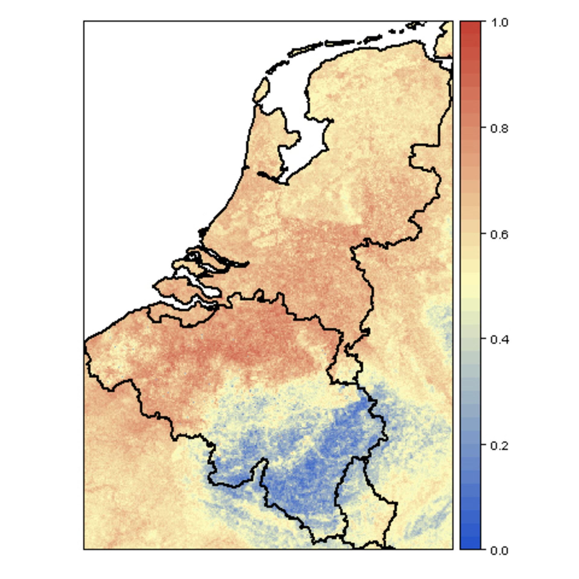 Muggen verspreiding in Nederland en Belgie