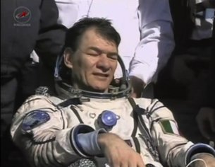 Paolo Nespoli after landing