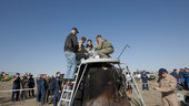 Paolo pulled out from Soyuz capsule