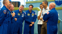 President Obama with STS-134 astronauts