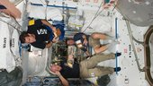 Snack break on ISS