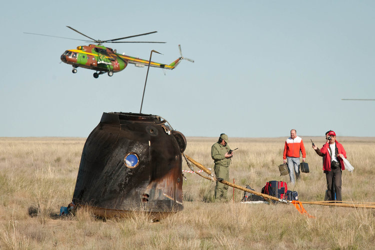 Soyuz TMA-20 landing module just after landing