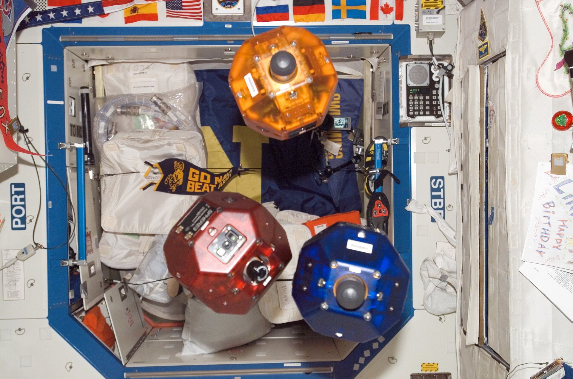 Spheres on the Space Station