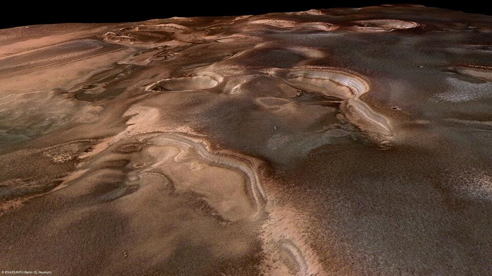 ESA - Primavera en el polo sur de Marte