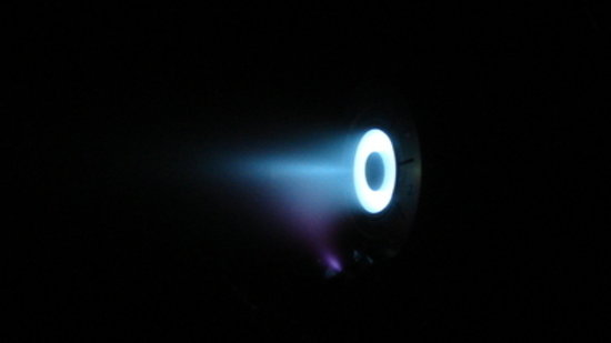 ALTA mini Hall Effect Thruster during firing